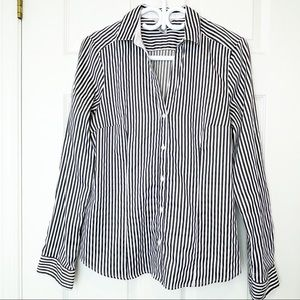 H&M Black and White Striped button Down Shirt